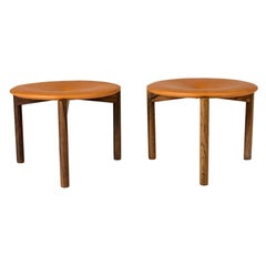 Pair of Leather Stools by Uno & Östen Kristiansson