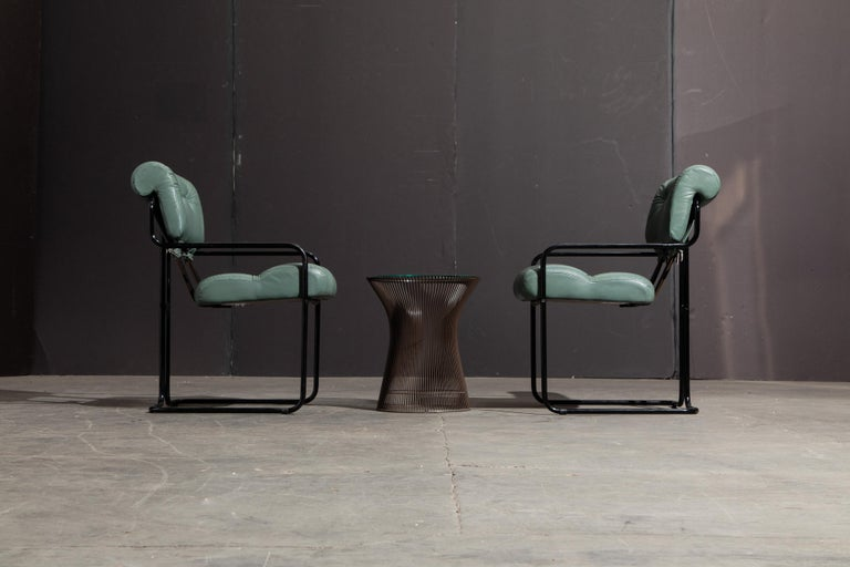 Pair of Leather Tucroma Chairs by Guido Faleschini for i4 Mariani, 1980s, Signed For Sale 3