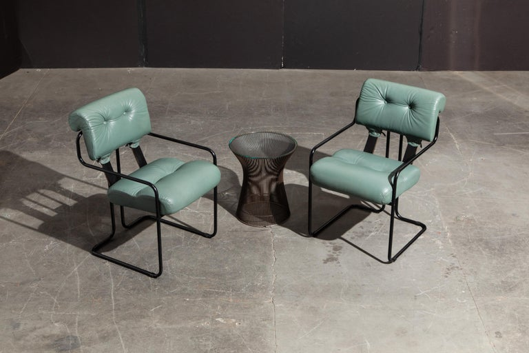 Pair of Leather Tucroma Chairs by Guido Faleschini for i4 Mariani, 1980s, Signed For Sale 2