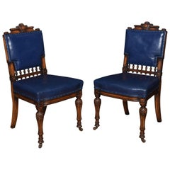 Pair of Leather Upholstered Office Chairs