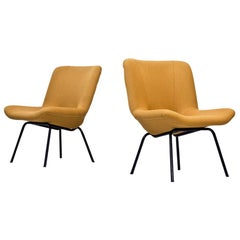 "Pair of ""Lehti"" Easy Chairs by Carl Gustaf Hiort Af Ornäs, Finland, 1950s"