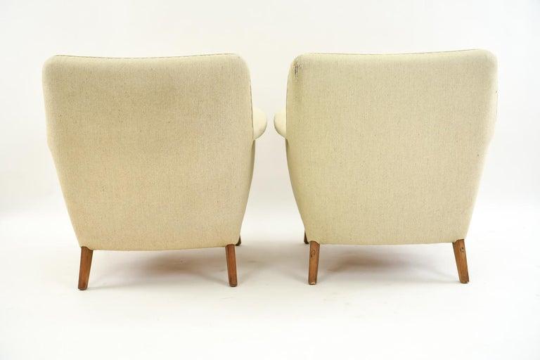 Pair of Leif Hansen Danish Easy Chairs 7
