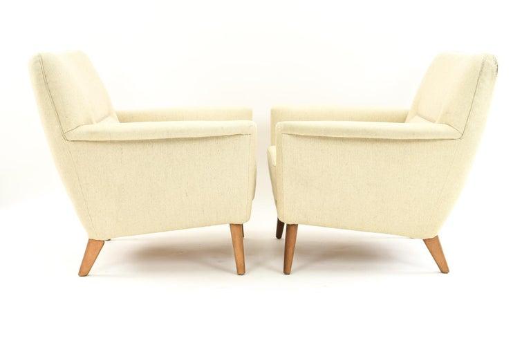 Pair of Leif Hansen Danish Easy Chairs 9