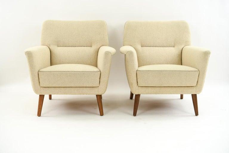 Pair of Leif Hansen Danish Easy Chairs 3
