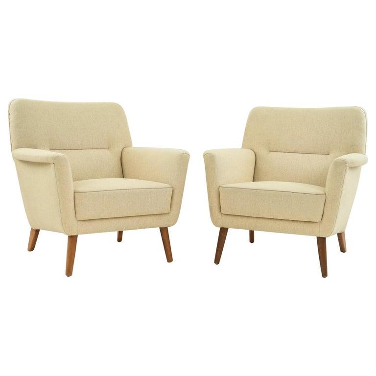 Pair of Leif Hansen Danish Easy Chairs