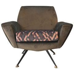 Paar Lenzi Designer Sessel aus den Späten 1950er Jahren