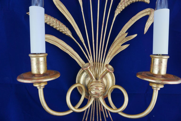 Pair of Leone Cei 3850 Regency Style Wall Lights, Hand Carved and Gilded For Sale 2