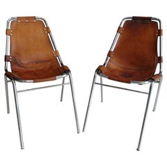 "Pair of ""Les Arcs"" Chairs Selected by Charlotte Perriand"