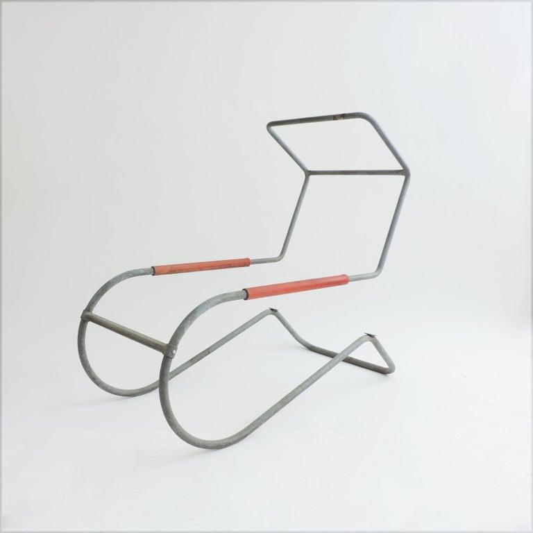 Pair of 'Lido' Lounge Chairs by Battista Giudici, Locarno, Switzerland, 1936 For Sale 2