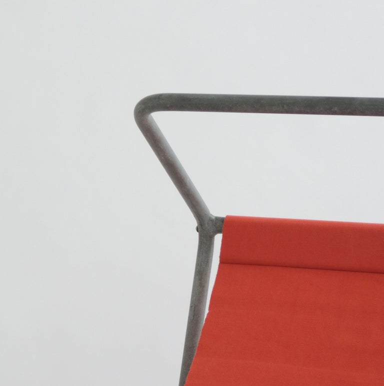 Modern Pair of 'Lido' Lounge Chairs by Battista Giudici, Locarno, Switzerland, 1936 For Sale