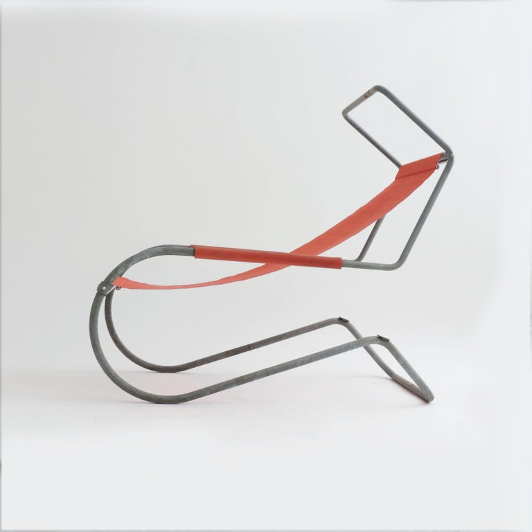 Pair of 'Lido' Lounge Chairs by Battista Giudici, Locarno, Switzerland, 1936 In Good Condition For Sale In Milan, IT