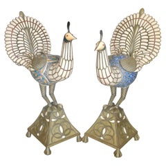 "Pair of ""Life Size"" Persian Peacocks"