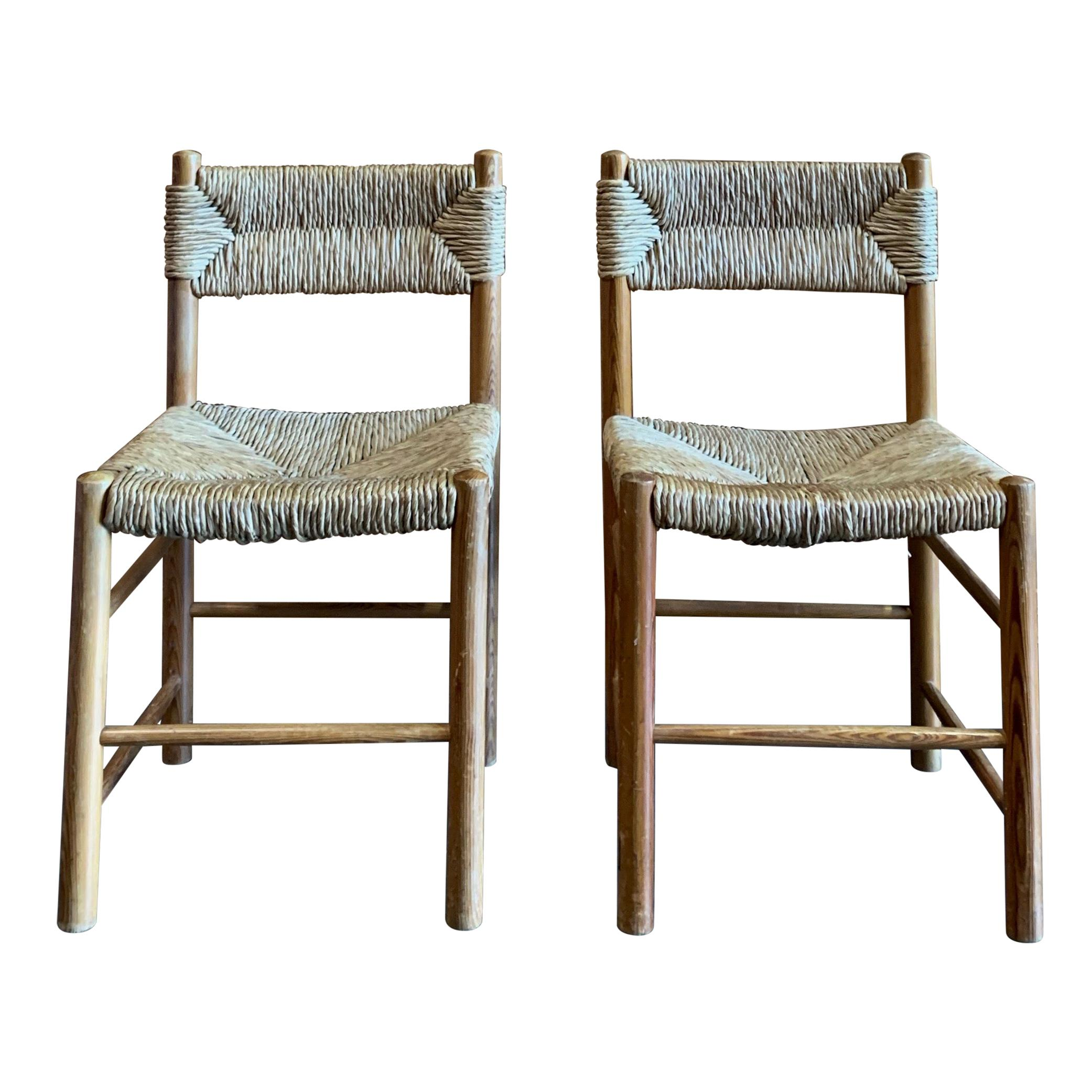Light Brown Charlotte Perriand Chairs