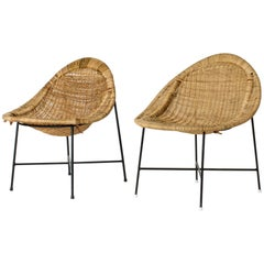 "Pair of ""Lilla Kraal"" Lounge Chairs by Kerstin Hörlin-Holmquist"