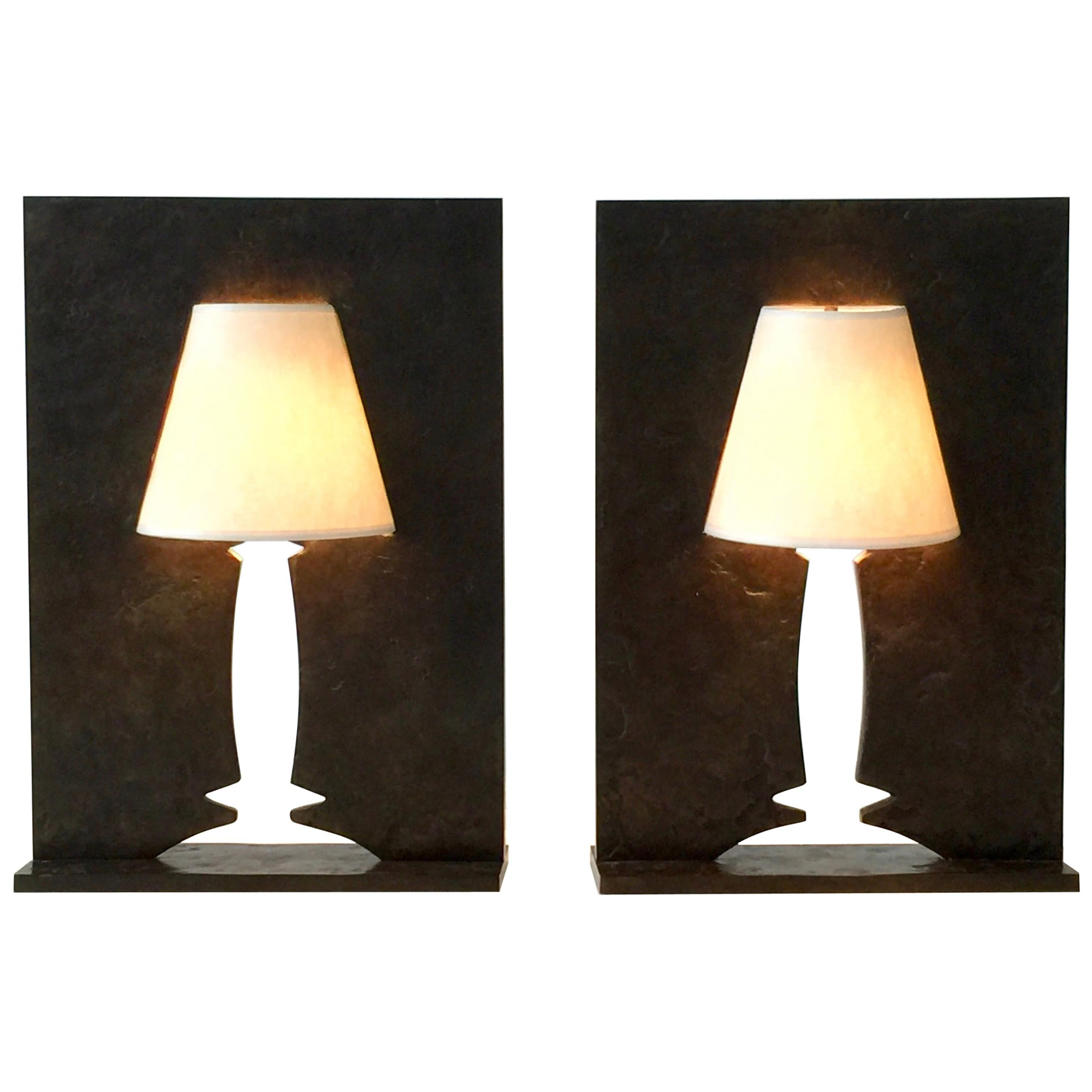 Pair of Limited Edition 'Allusion' Table Lights by Hubert Le Gall, 1999