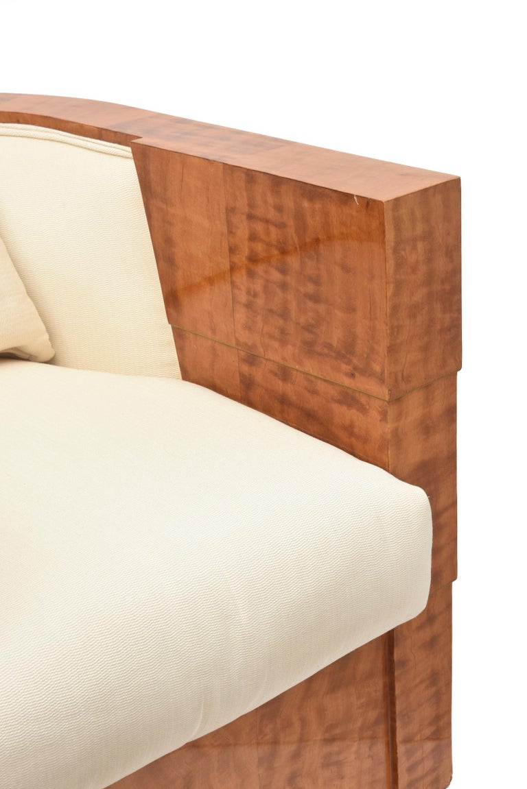 Modern Pair of Limited Edition Pace Exotic Camino Wood Swivel Club Normandy Chairs For Sale
