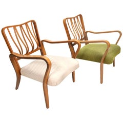 Pair of Linden Arm Chairs by G. A. Jenkins and Eric Lyons for Packet Furniture