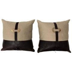 Pair of Linen Throw Pillows