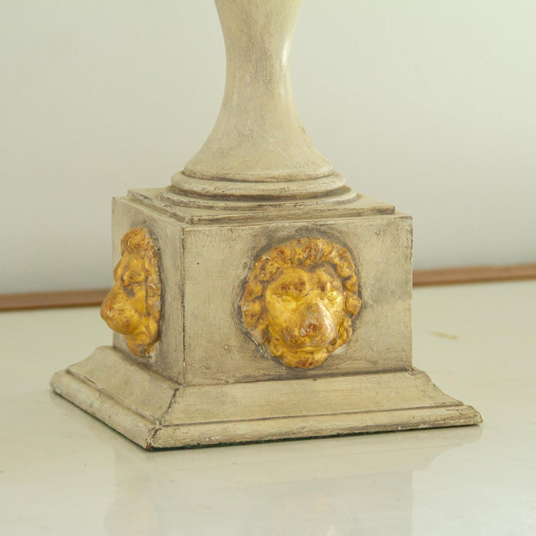 Pair of Lion Mask Lamps, 1980s In Good Condition For Sale In Donhead St Mary, Wiltshire
