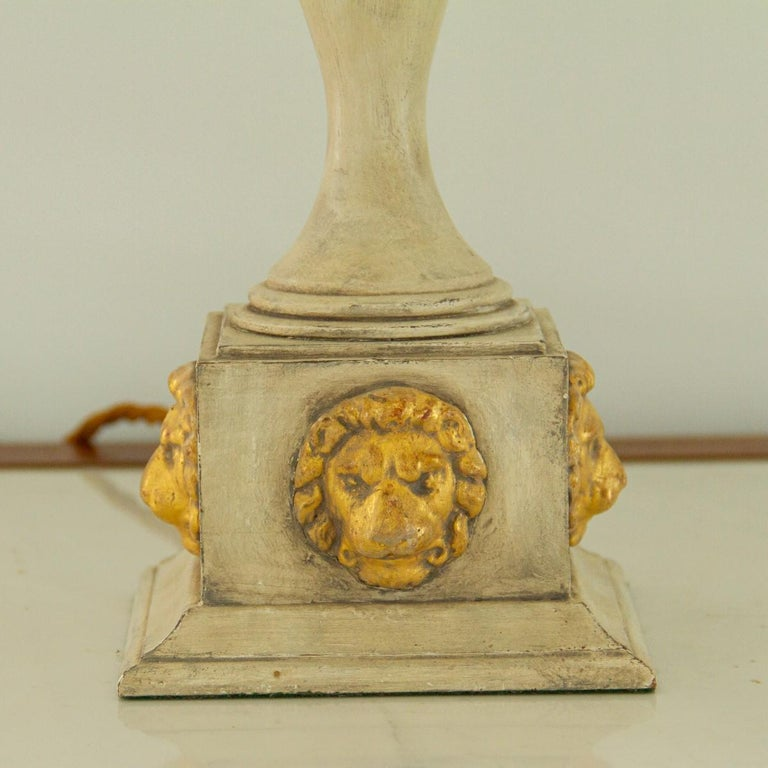 Pair of Lion Mask Lamps, 1980s For Sale 1