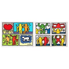 Pair of Lithographs after Keith Haring -- one numbered