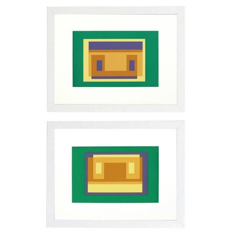 American Pair of Lithographs by Josef Albers from Formulation and Articulation For Sale