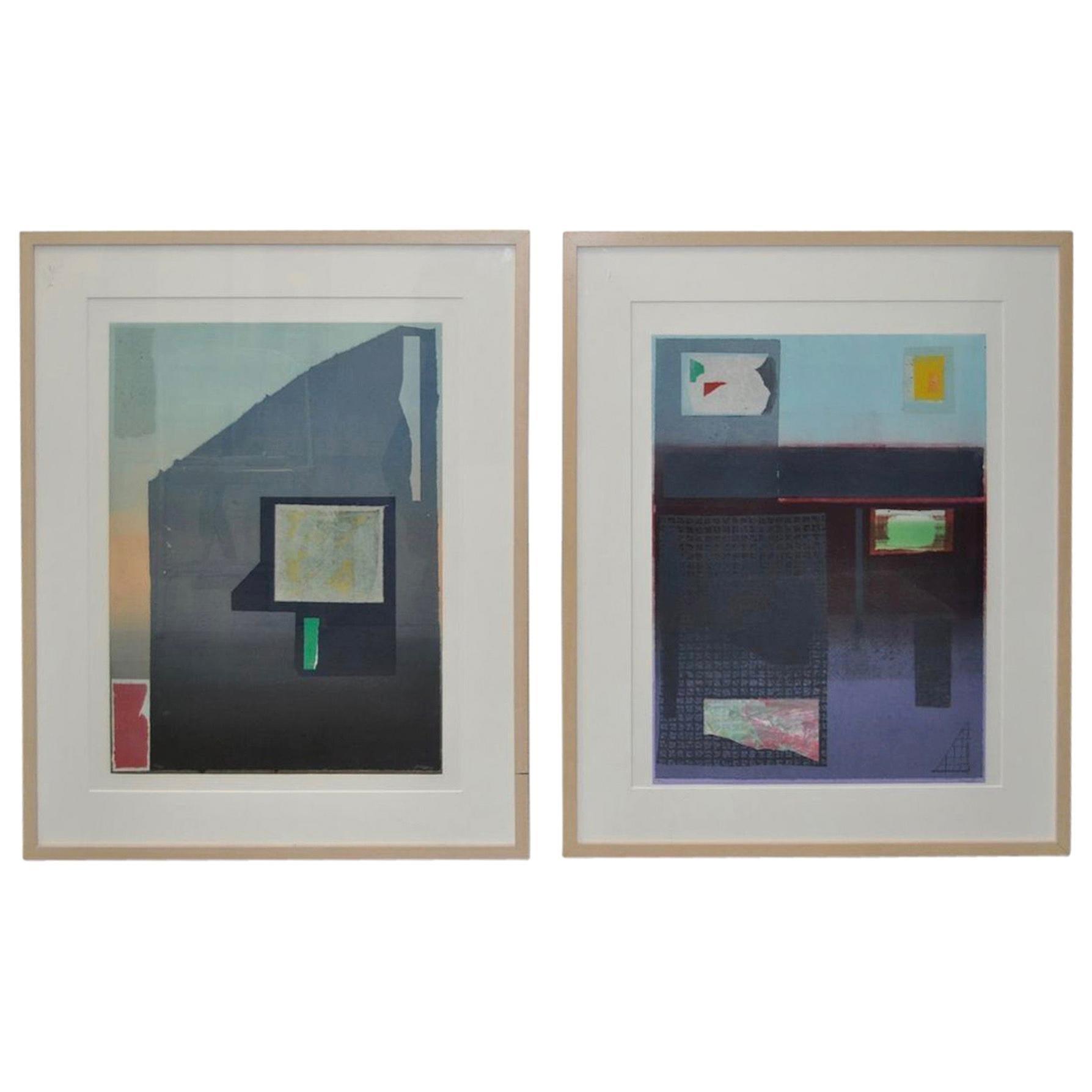 "Pair of Lithographs ""California & Osaka"" by Listed Artist Robert Inman"