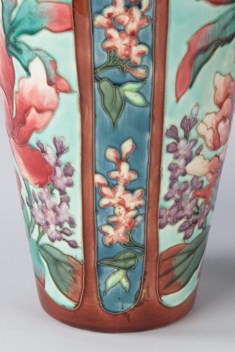 Pair of Longchamp Majolica Ceramic Vases, 1900s For Sale 7