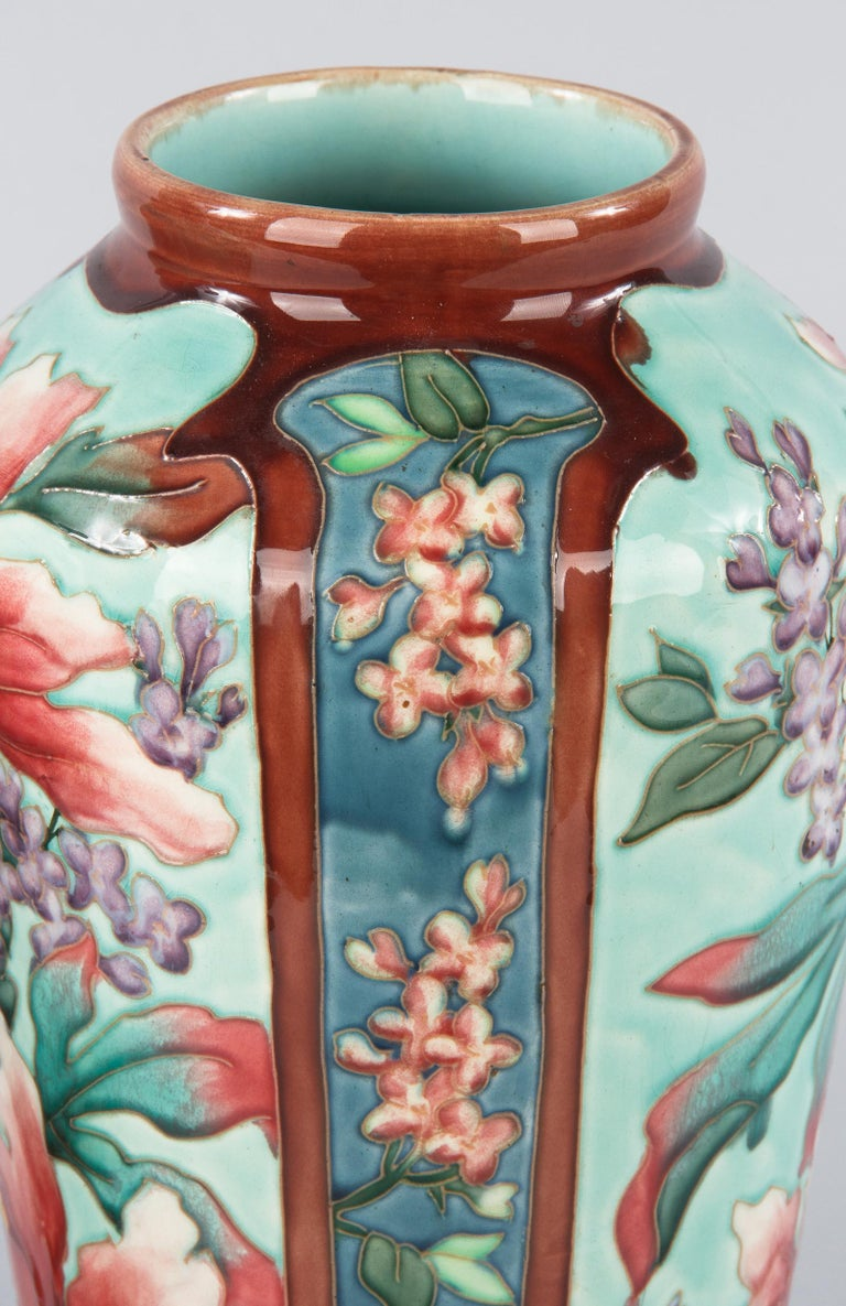 Pair of Longchamp Majolica Ceramic Vases, 1900s For Sale 8