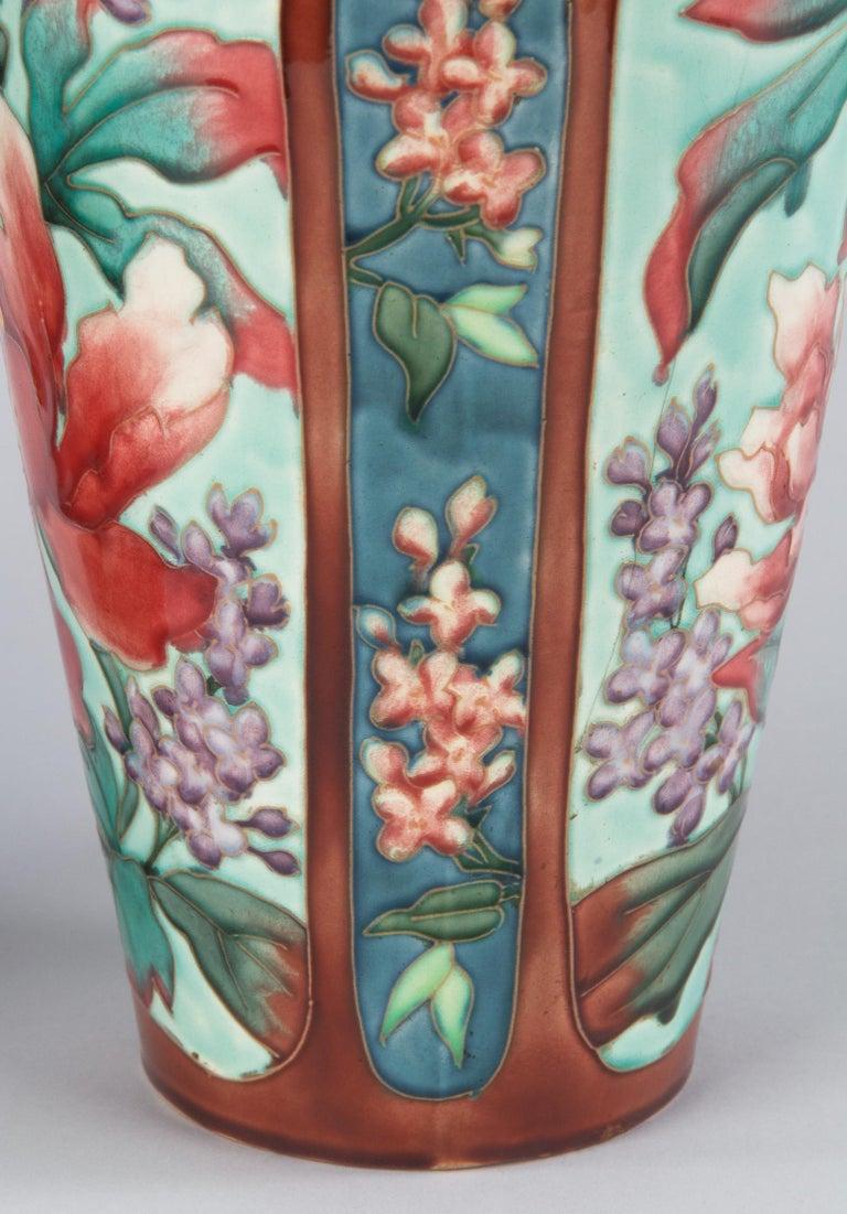 Pair of Longchamp Majolica Ceramic Vases, 1900s For Sale 9