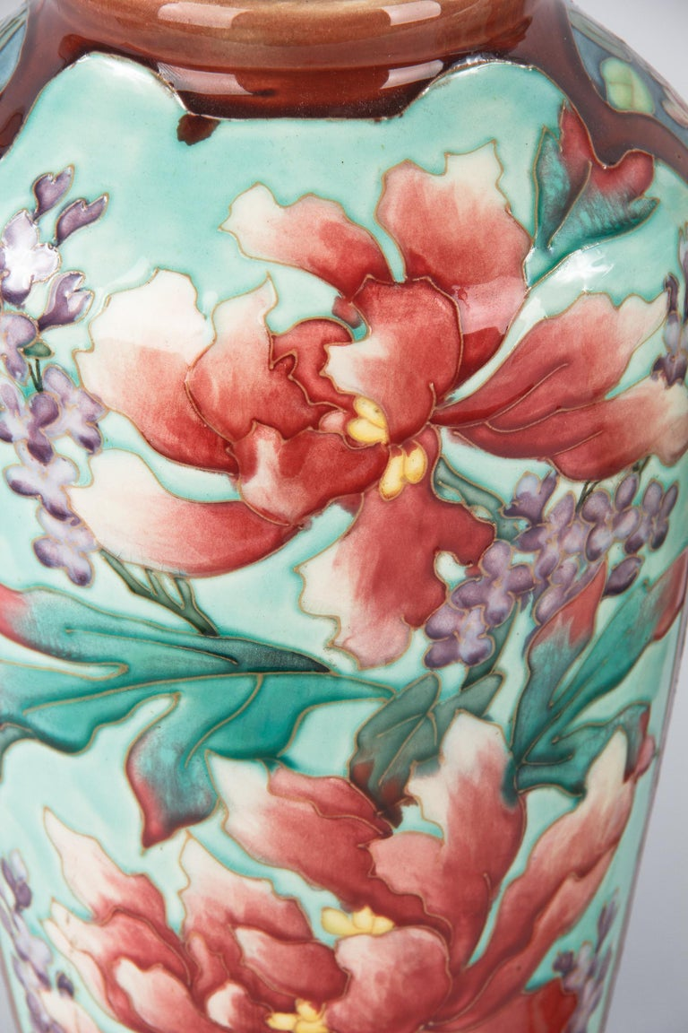 Pair of Longchamp Majolica Ceramic Vases, 1900s In Good Condition For Sale In Austin, TX