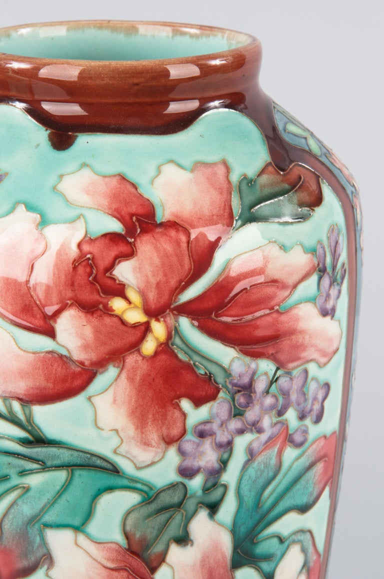 Pair of Longchamp Majolica Ceramic Vases, 1900s For Sale 1