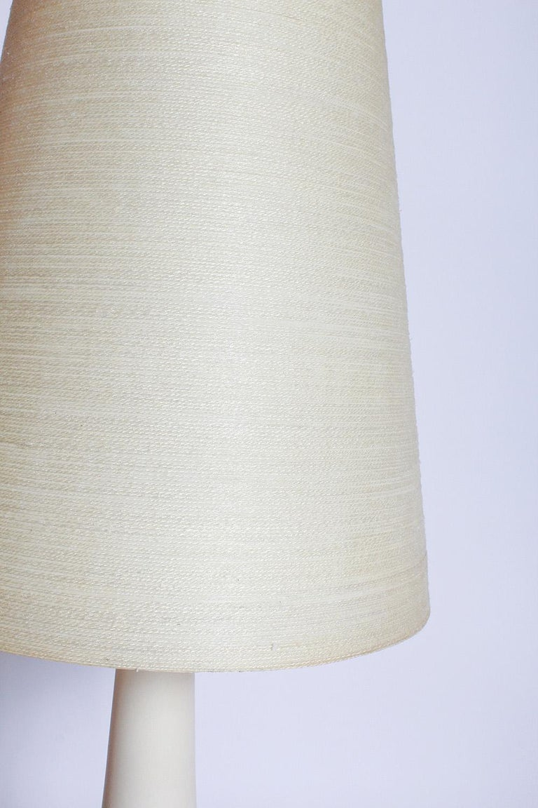 Bleached Pair of Lotte and Gunnar Bostlund Lamps with Original Shades, circa 1970 For Sale