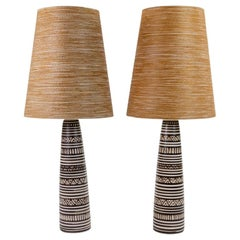 Pair of Lotte and Gunnar Bostlund Pottery Lamps
