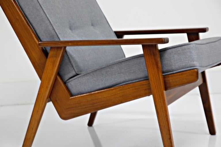 Pair of Lotus Chairs by Robert Parry for Gelderland, Denmark 1950s, Restored For Sale 6