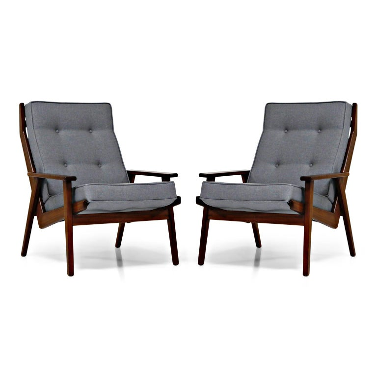 Danish Pair of Lotus Chairs by Robert Parry for Gelderland, Denmark 1950s, Restored For Sale
