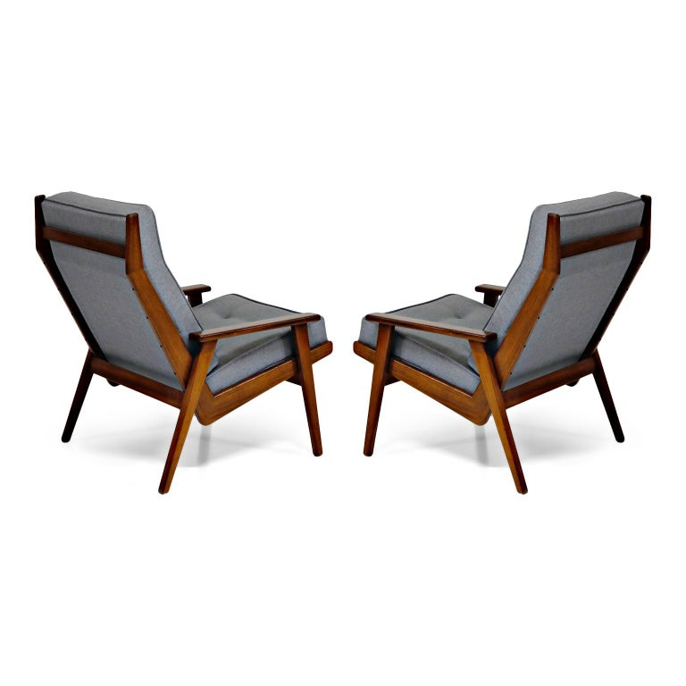Mid-20th Century Pair of Lotus Chairs by Robert Parry for Gelderland, Denmark 1950s, Restored For Sale