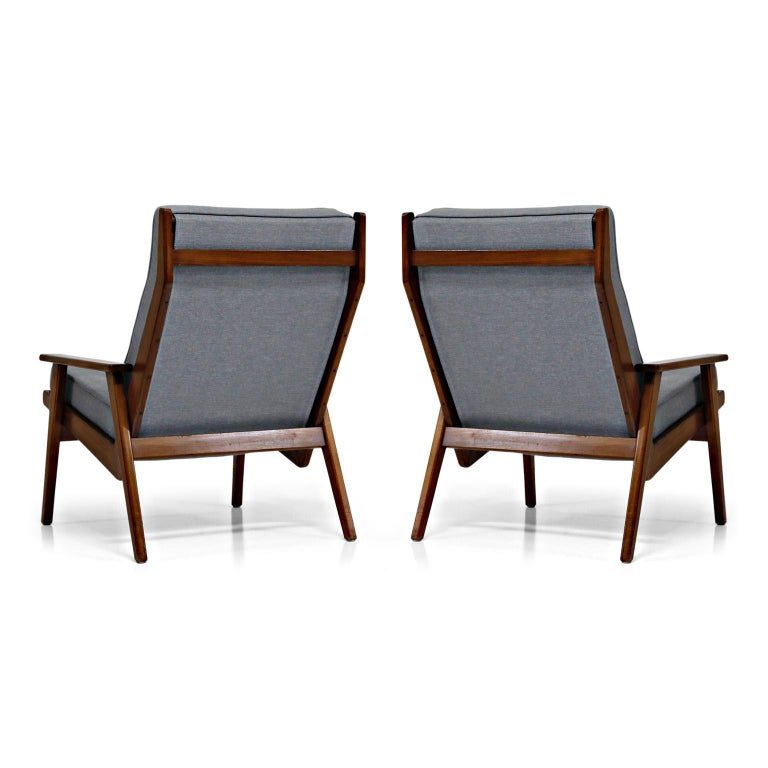 Pair of Lotus Chairs by Robert Parry for Gelderland, Denmark 1950s, Restored For Sale 1