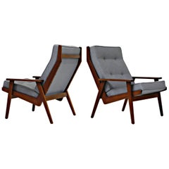 Pair of Lotus Chairs by Robert Parry for Gelderland, Denmark 1950s, Restored