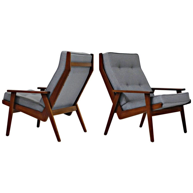 Pair of Lotus Chairs by Robert Parry for Gelderland, Denmark 1950s, Restored For Sale