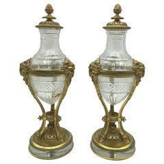 Louis XVI Fireplace Tools and Chimney Pots
