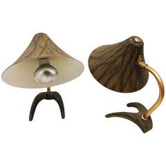 Pair of Louis Kalff Crane Feet Table Lamp for Philips