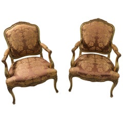 Pair of Louis LV Style Fauteuil Chairs