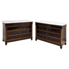 Pair of Louis Philippe Chests of Drawers, Mid-19th Century
