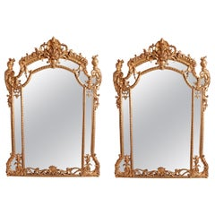 Pair of Louis Philippe Finely Gilt Carved Mirrors