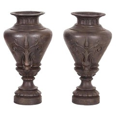 Pair of Louis Philippe Garden Vases, circa 1860
