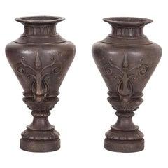 Pair of Louis Philippe Garden Vases, circa 1860