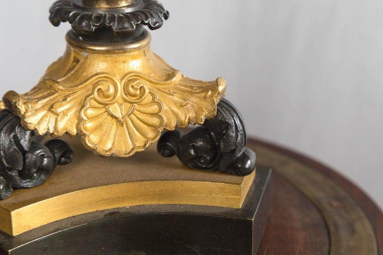 19th Century Pair of Louis Phillipe 4-Light Bronze Candelabra For Sale