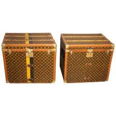 Pair of Louis Vuitton Monogram Steamer Trunks, Malles Louis Vuitton
