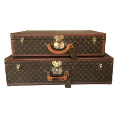 Pair of Louis Vuitton Suitcases